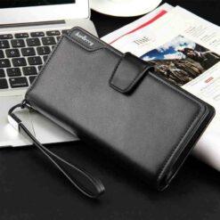 baellerry lon men's wallet zipper