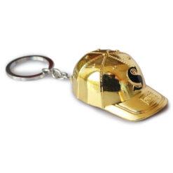 PUBG Golden cap metal keychain key ring-2