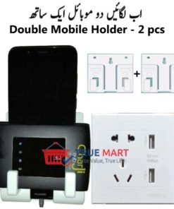Double wall mount phone holder mobile stand-1