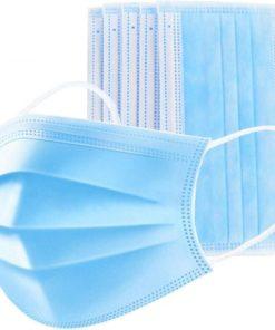 surgical non woven face mask disposable blue color