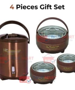 happy lion 3 hot pot water cooler set in red color