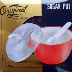 Apple Shape Sugar Pot With Lid & Spoon