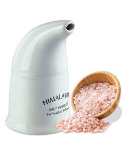 himalayan salt inhaler ceramic with pink dry salt